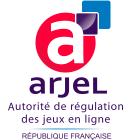 Le logo de l'ARJEL est apposé sur tous les sites homologués pour les paris en France